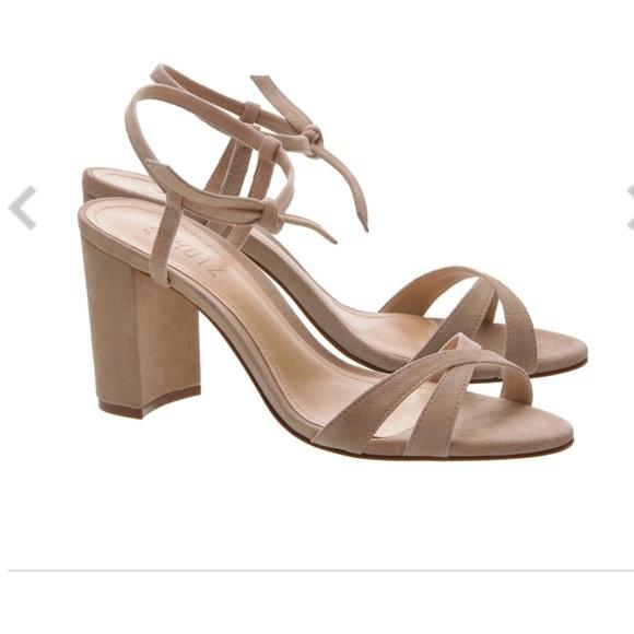 Schutz Nude Suede Hericca Sandal Size